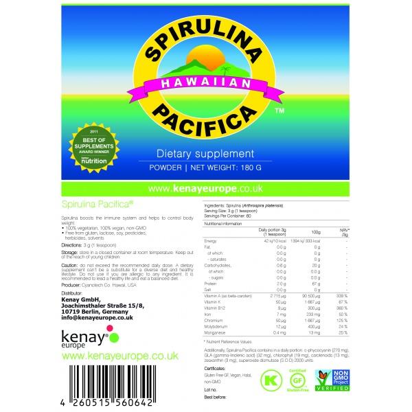 Spirulina Pacifica® hawaiana in polvere (180 g) – integratore alimentare